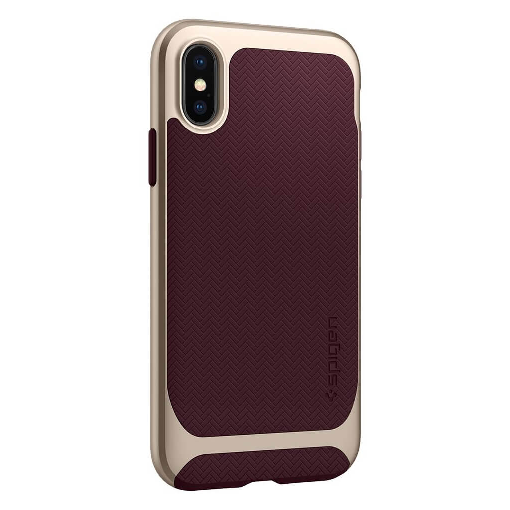 Spigen® Neo Hybrid™ 057CS22168 iPhone X Case - Burgundy