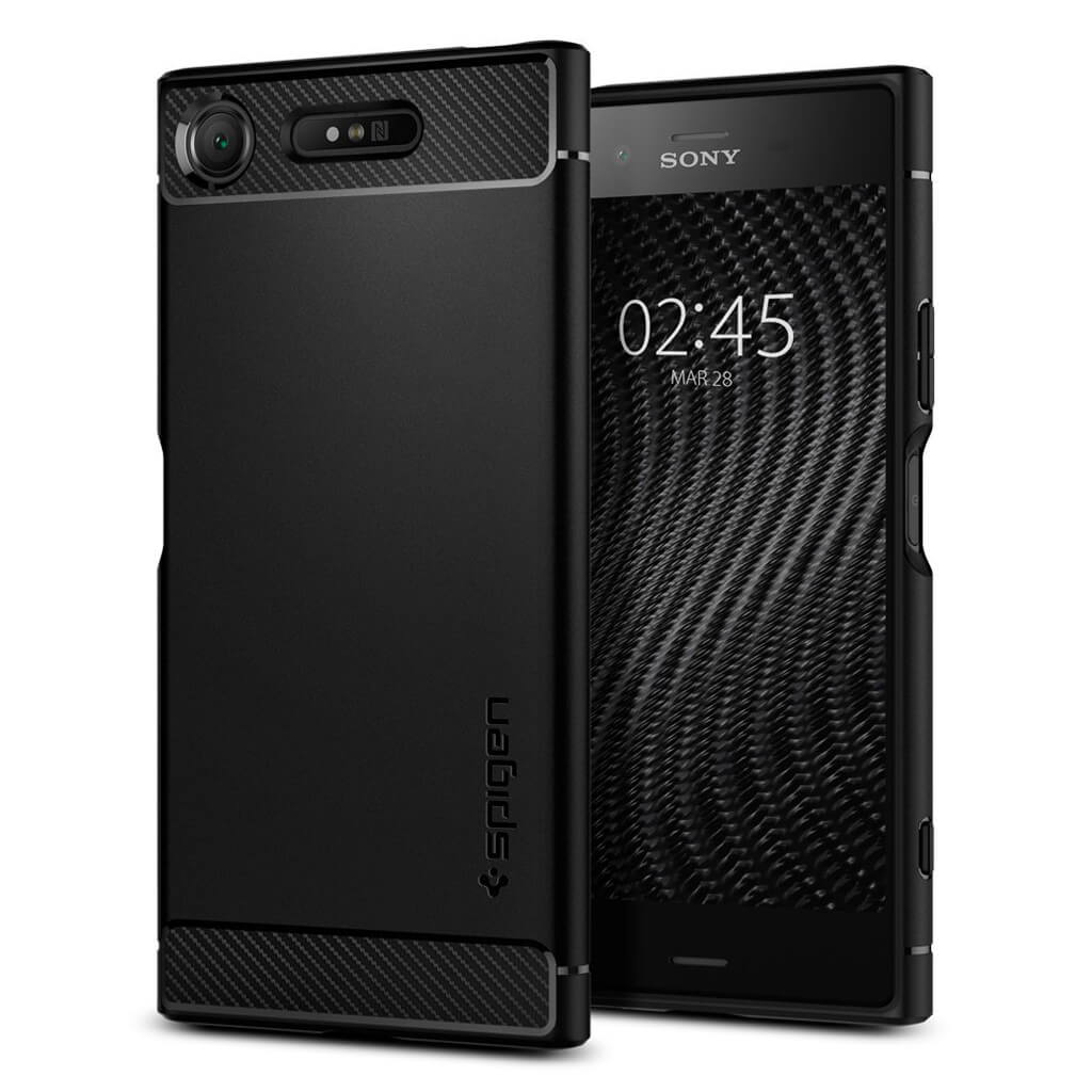 Spigen® Rugged Armor™ G11CS22411 Sony Xperia XZ1 Case - Black
