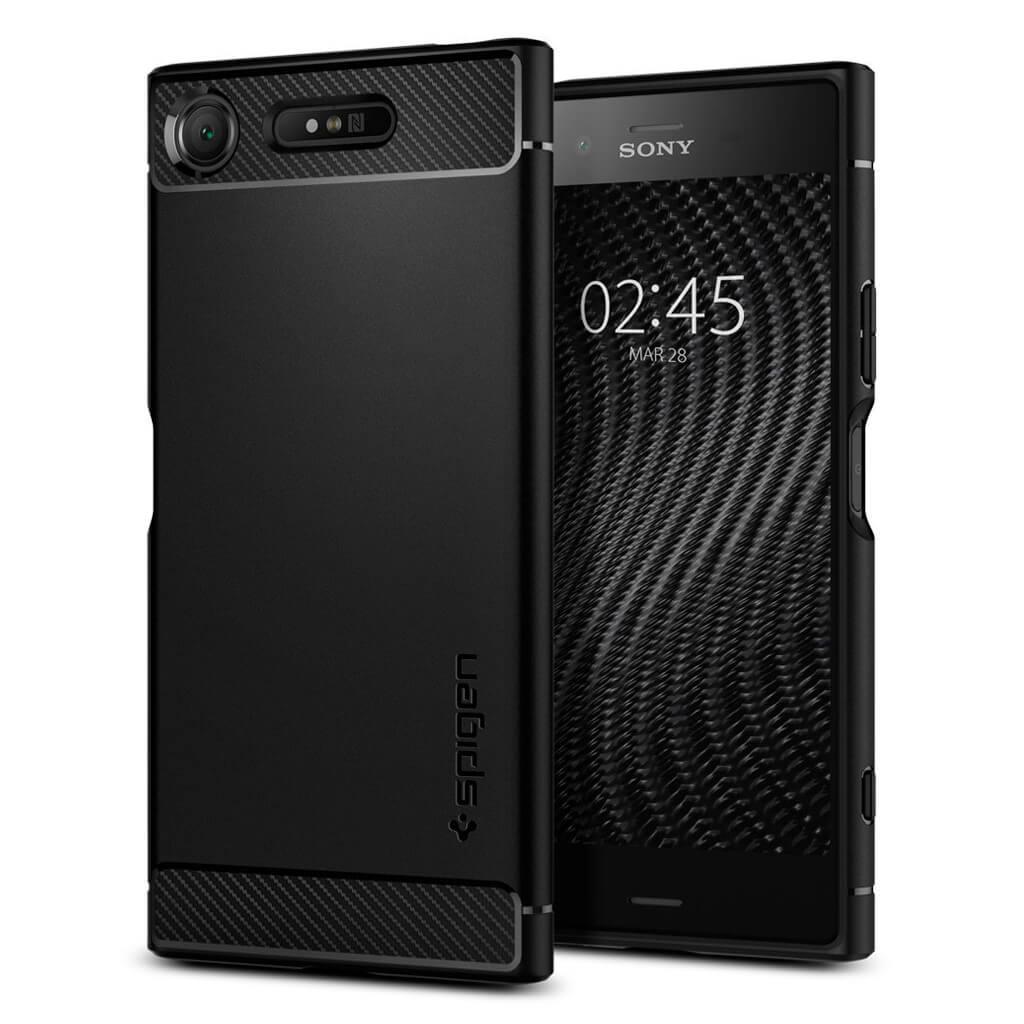 Spigen® Rugged Armor™ G11CS22411 Sony Xperia XZ1 Case - Black
