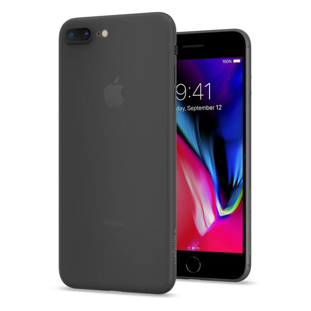 Spigen® Air Skin™ 055CS22594 iPhone 8 Plus Case - Black