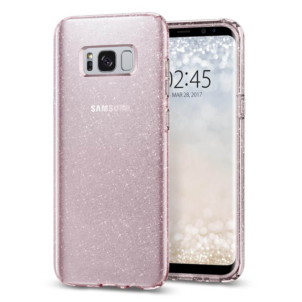 Spigen® Liquid Crystal Glitter™ 571CS21667 Samsung Galaxy S8+ Plus Case - Rose Quartz
