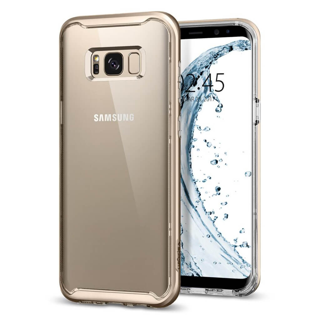 Spigen® Neo Hybrid Crystal™ 571CS21655 Samsung Galaxy S8+ Plus Case - Gold Maple