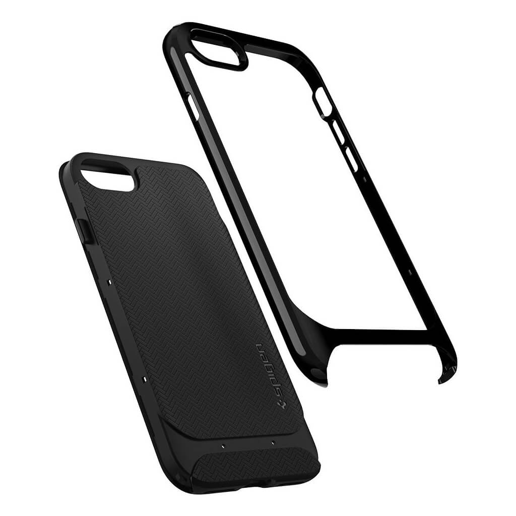 Spigen® Neo Hybrid™ Herringbone™ 054CS22200 iPhone 8 / 7 Case - Shiny Black