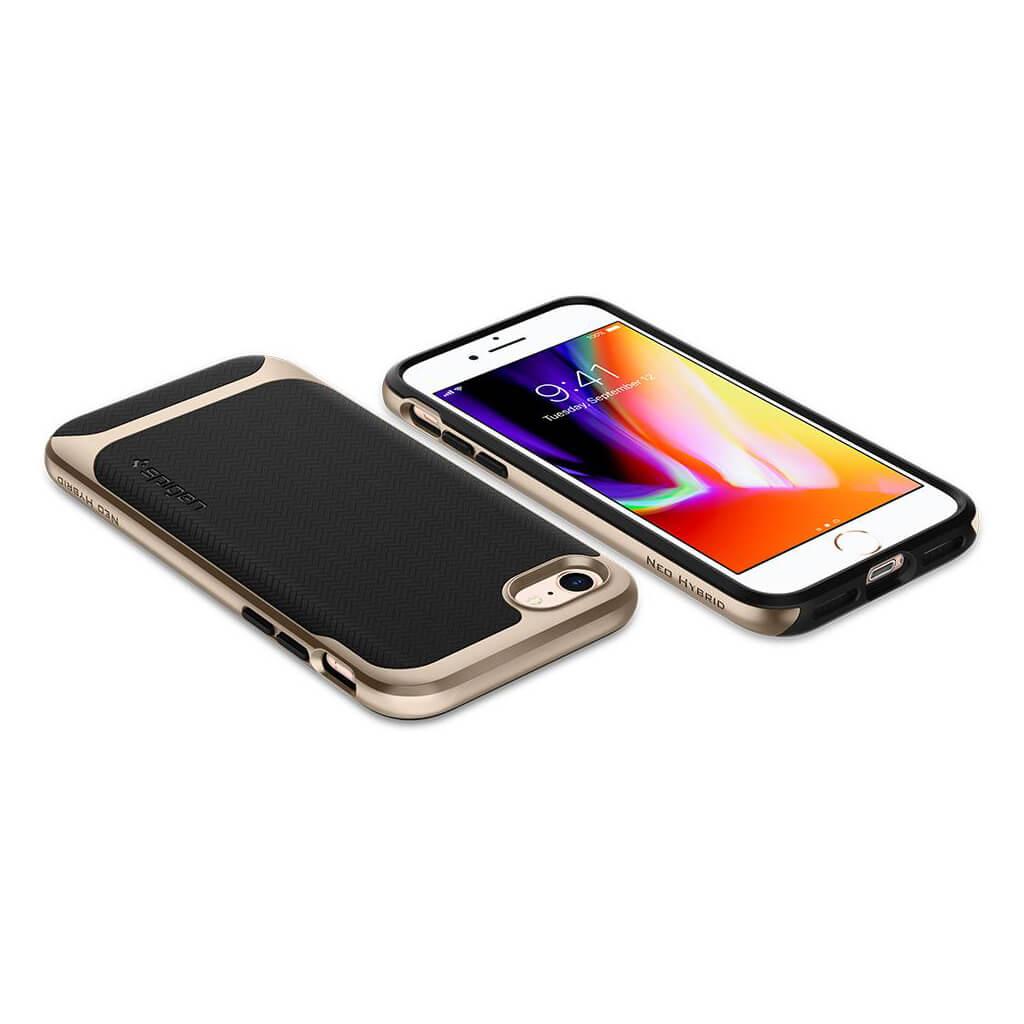Spigen® Neo Hybrid™ Herringbone™ 054CS22201 iPhone 8 / 7 Case - Champagne Gold