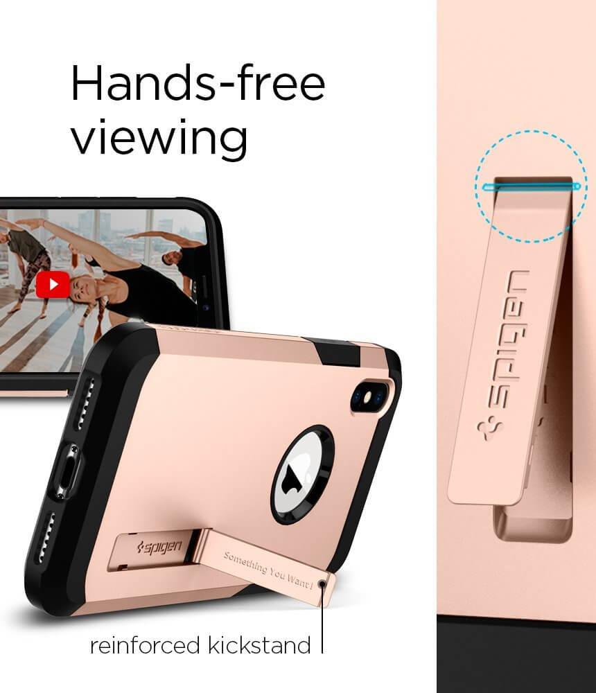 Spigen® Tough Armor™ 057CS22162 iPhone X Case - Blush Gold