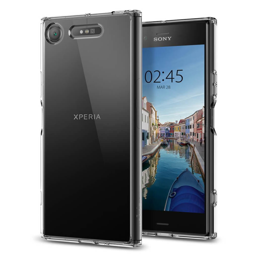 Spigen® Ultra Hybrid™ G11CS22412 Sony Xperia XZ1 Case - Crystal Clear