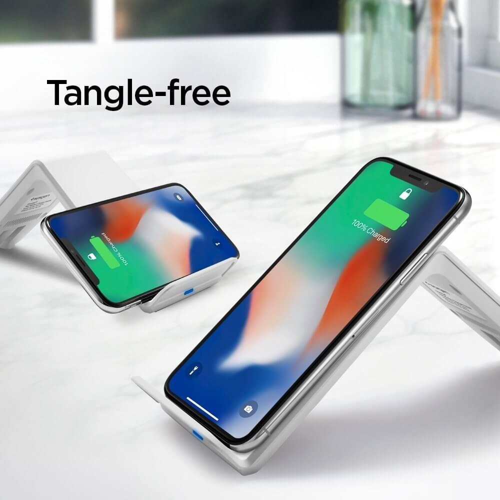 Spigen® F303W 000CH22589 Qi Fast Wireless Charger - White