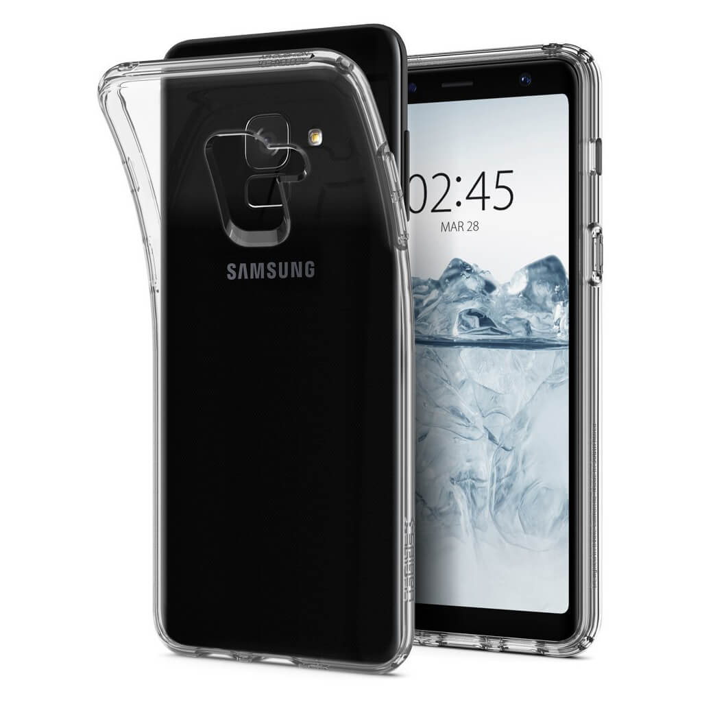 Spigen® Liquid Crystal™ 590CS22748 Samsung Galaxy A8 (2018) Case - Crystal Clear