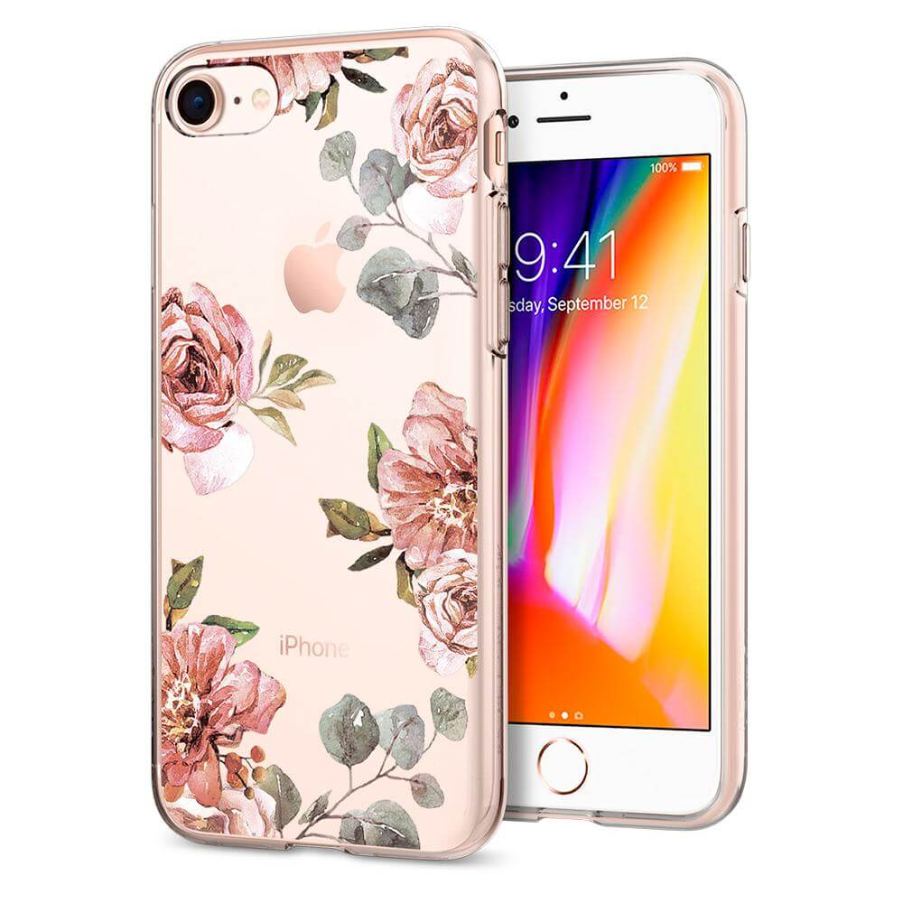 Spigen® Liquid Crystal™ Aquarelle 054CS22619 iPhone 8 / 7 Case - Rose