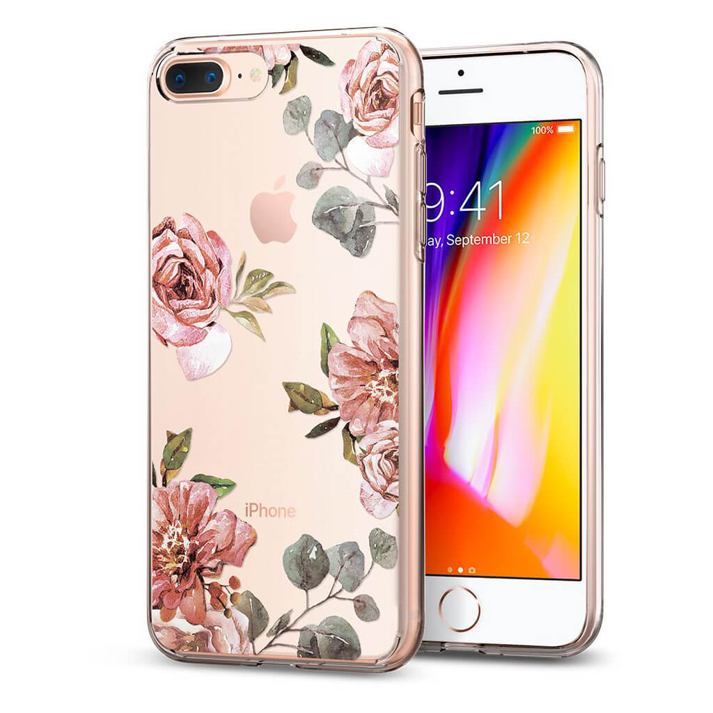 Spigen® Liquid Crystal™ Aquarelle 055CS22621 iPhone 8 Plus / 7 Plus Case - Rose