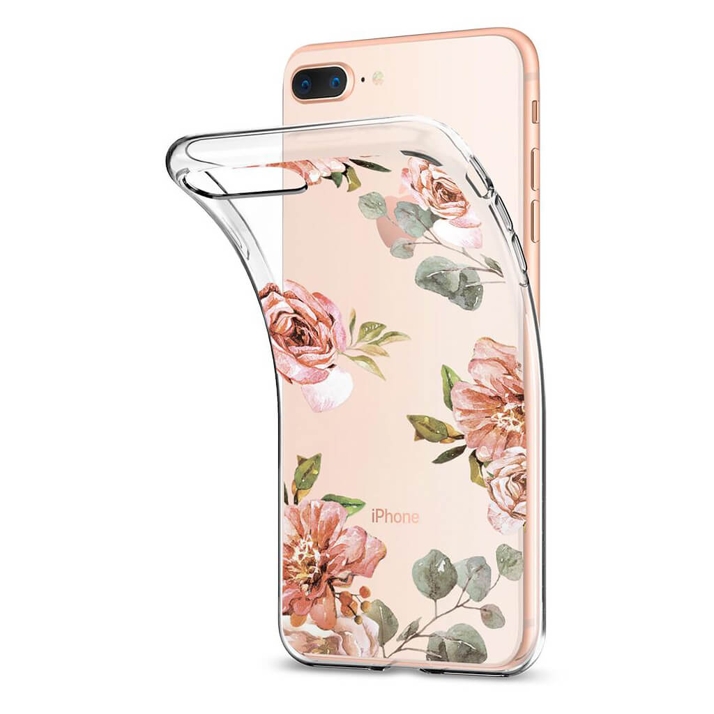 Spigen® Liquid Crystal™ Aquarelle 055CS22621 iPhone 8 Plus / 7 Plus Case - Rose