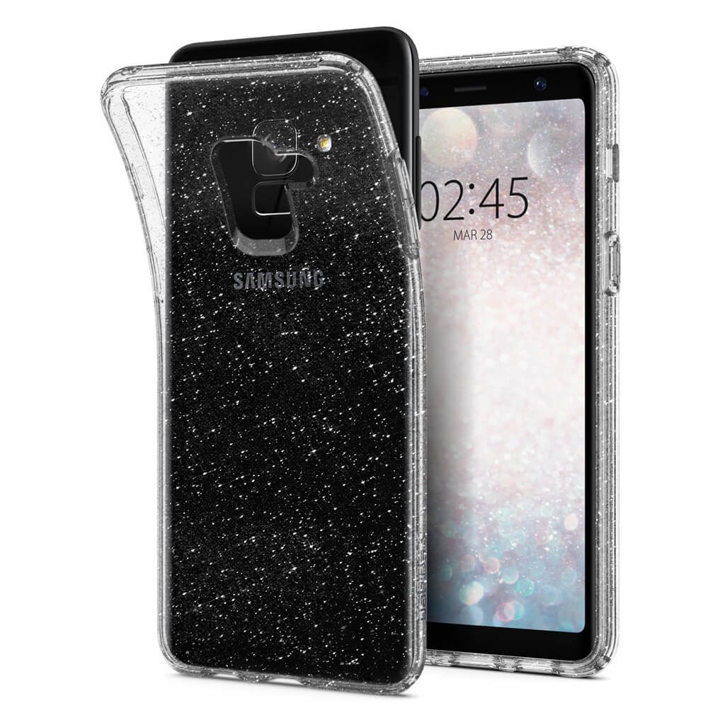 Spigen® Liquid Crystal Glitter™ 590CS22749 Samsung Galaxy A8 (2018) Case - Crystal Quartz