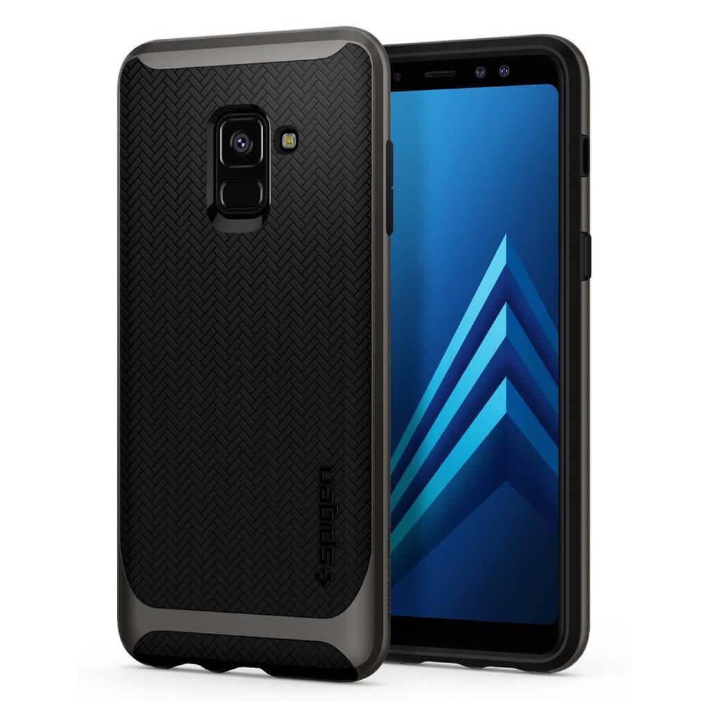 Spigen® Neo Hybrid™ 590CS22754 Samsung Galaxy A8 (2018) Case - Gunmetal