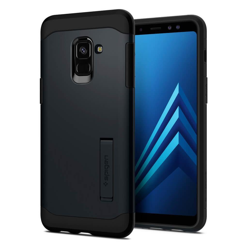 Spigen® Slim Armor™ 590CS22752 Samsung Galaxy A8 (2018) Case - Metal Slate