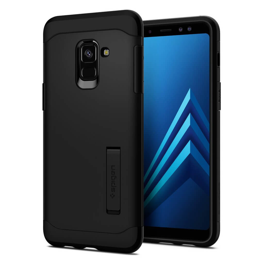 Spigen® Slim Armor™ 590CS22753 Samsung Galaxy A8 (2018) Case - Black