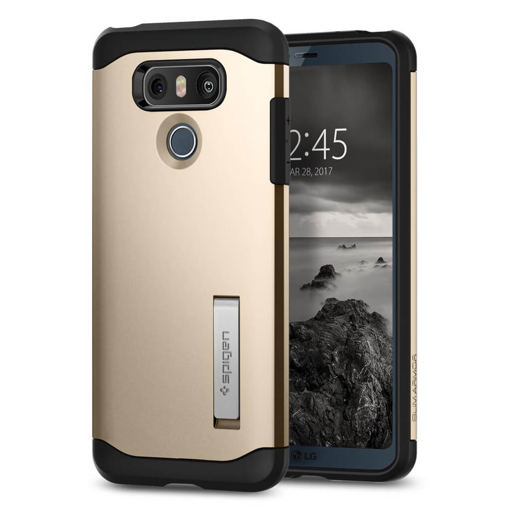 Spigen® Slim Armor™ A21CS21240 LG G6 Case - Champagne Gold