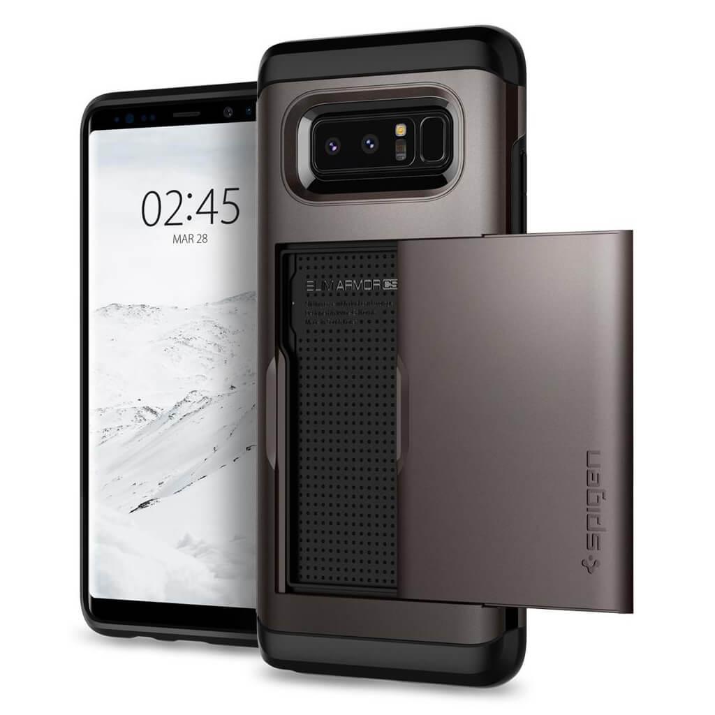 Spigen® Slim Armor CS™ 587CS22071 Samsung Galaxy Note 8 Case - Gunmetal