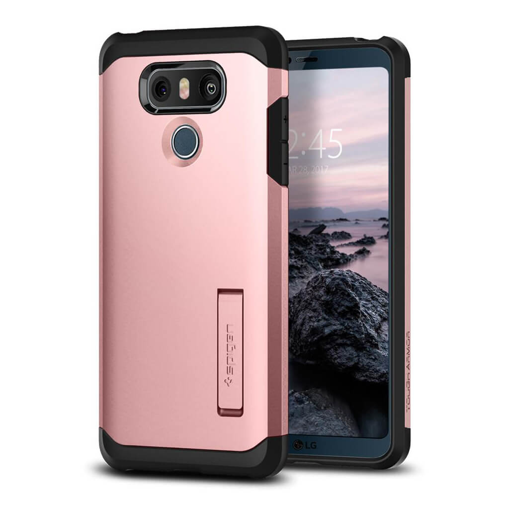 Spigen® Tough Armor™ A21CS21365 LG G6 Case - Rose Gold