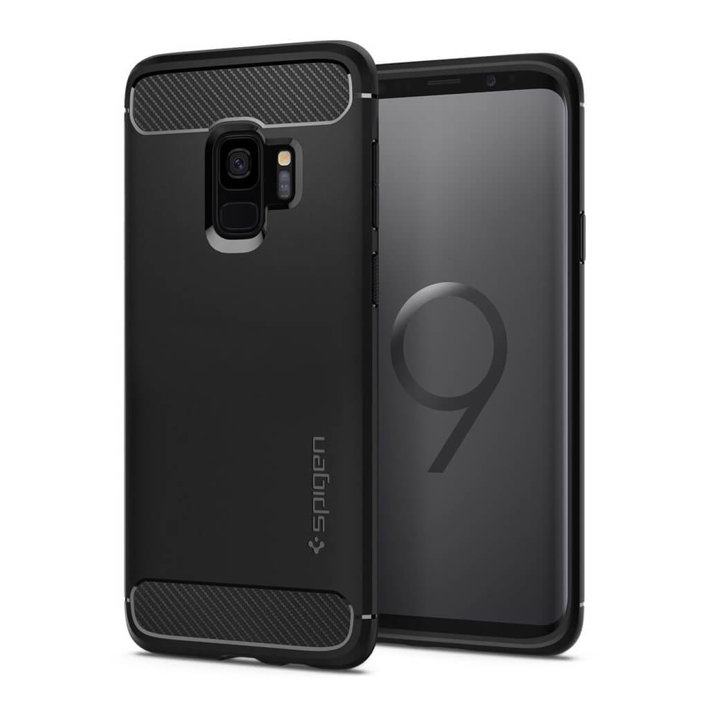 Spigen® Rugged Armor™ 592CS22834 Samsung Galaxy S9 Case - Matte Black