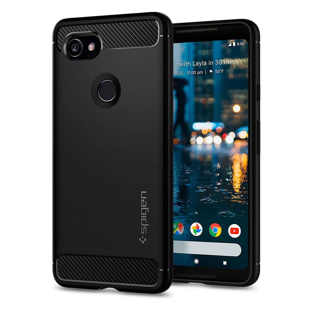Spigen® Rugged Armor™ F17CS22279 Google Pixel 2 XL Case - Black