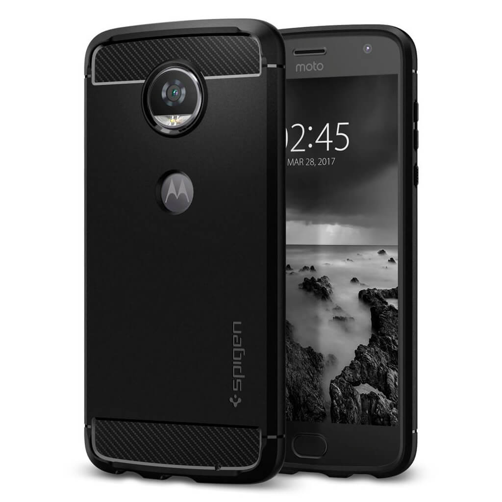 Spigen® Rugged Armor™ M10CS21984 Moto Z2 Play Case - Black