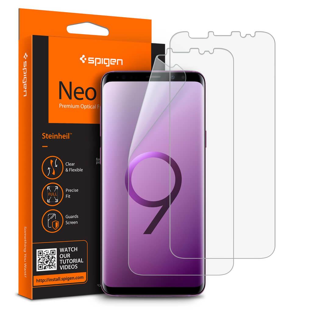 Spigen® [x2Pack] Neo Flex™ Samsung Galaxy S9+ Plus Premium Screen Protector