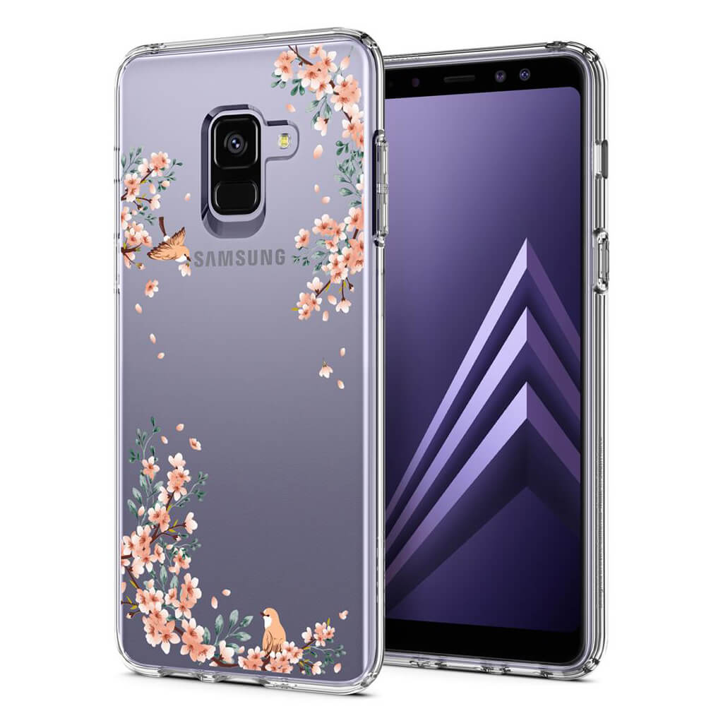 Spigen® Liquid Crystal Blossom™ 590CS22750 Samsung Galaxy A8 (2018) Case - Nature