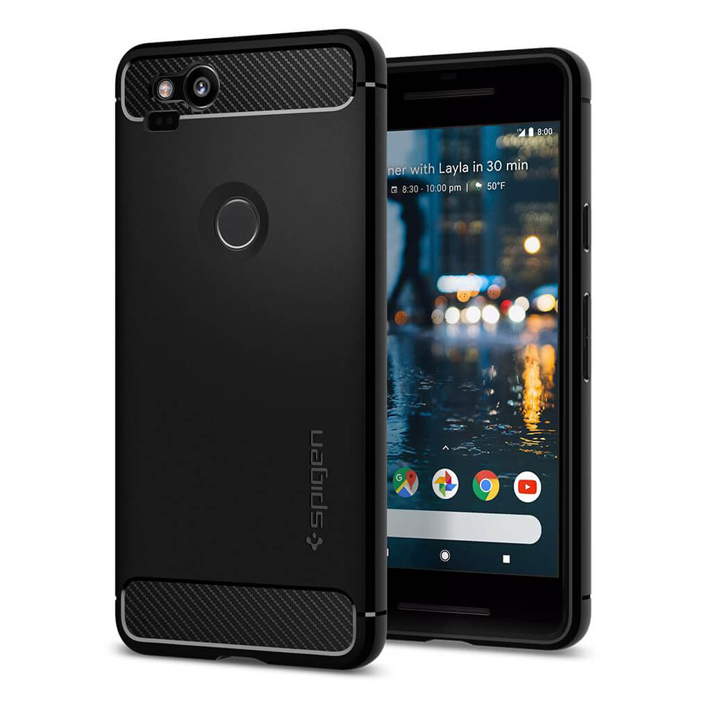 Spigen® Rugged Armor™ F16CS22271 Google Pixel 2 Case - Black