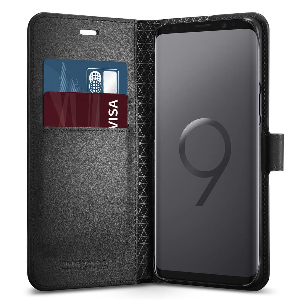 Spigen® Wallet S™ 592CS22870 Samsung Galaxy S9 Case - Black