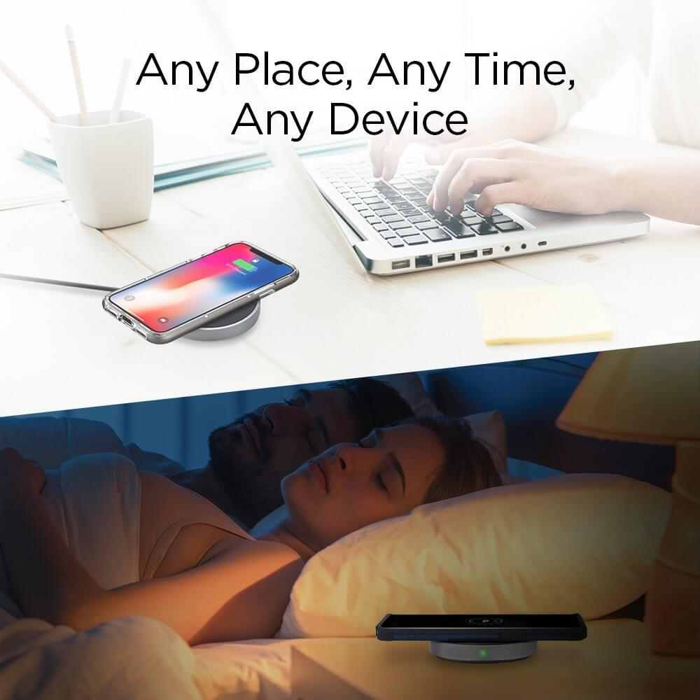 Spigen® Essential® F306W 000CH22566 Qi Fast Wireless Charger - Aluminium