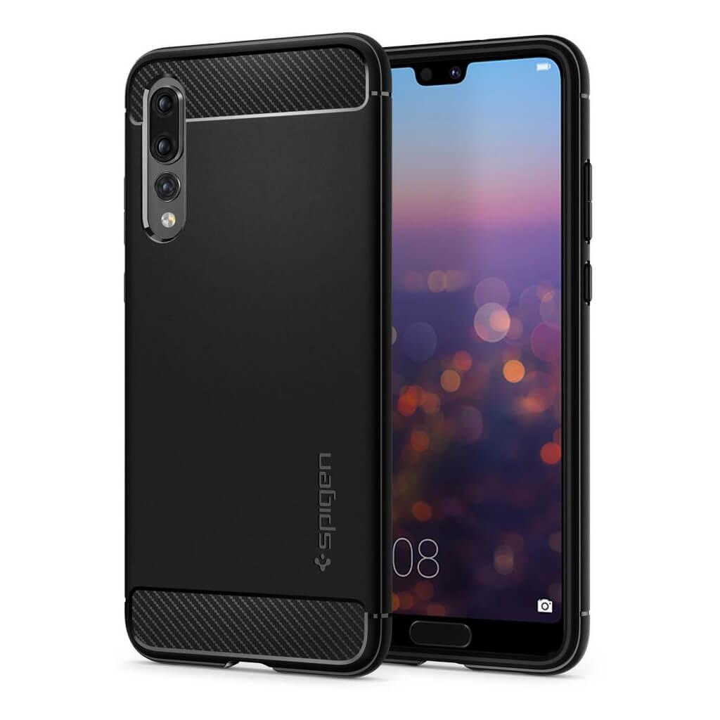 Spigen® Rugged Armor™ L23CS23083 Huawei P20 Pro Case - Black