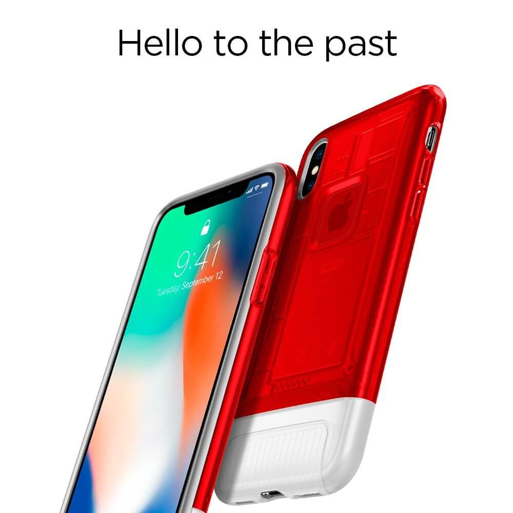 Spigen® Classic C1™ 057CS23195 iPhone X 10th Year Anniversary Limited Edition Case - Ruby
