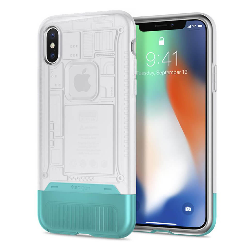 Spigen® Classic C1™ 057CS23198 iPhone X 10th Year Anniversary Limited Edition Case - Snow