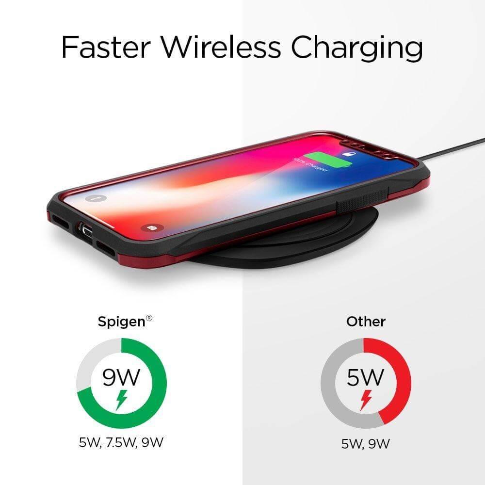 Spigen® Essential® F305W 000CH22617 Qi Fast Wireless Charger - Black