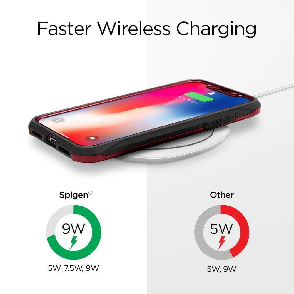 Spigen® Essential® F305W 000CH22618 Qi Fast Wireless Charger - White