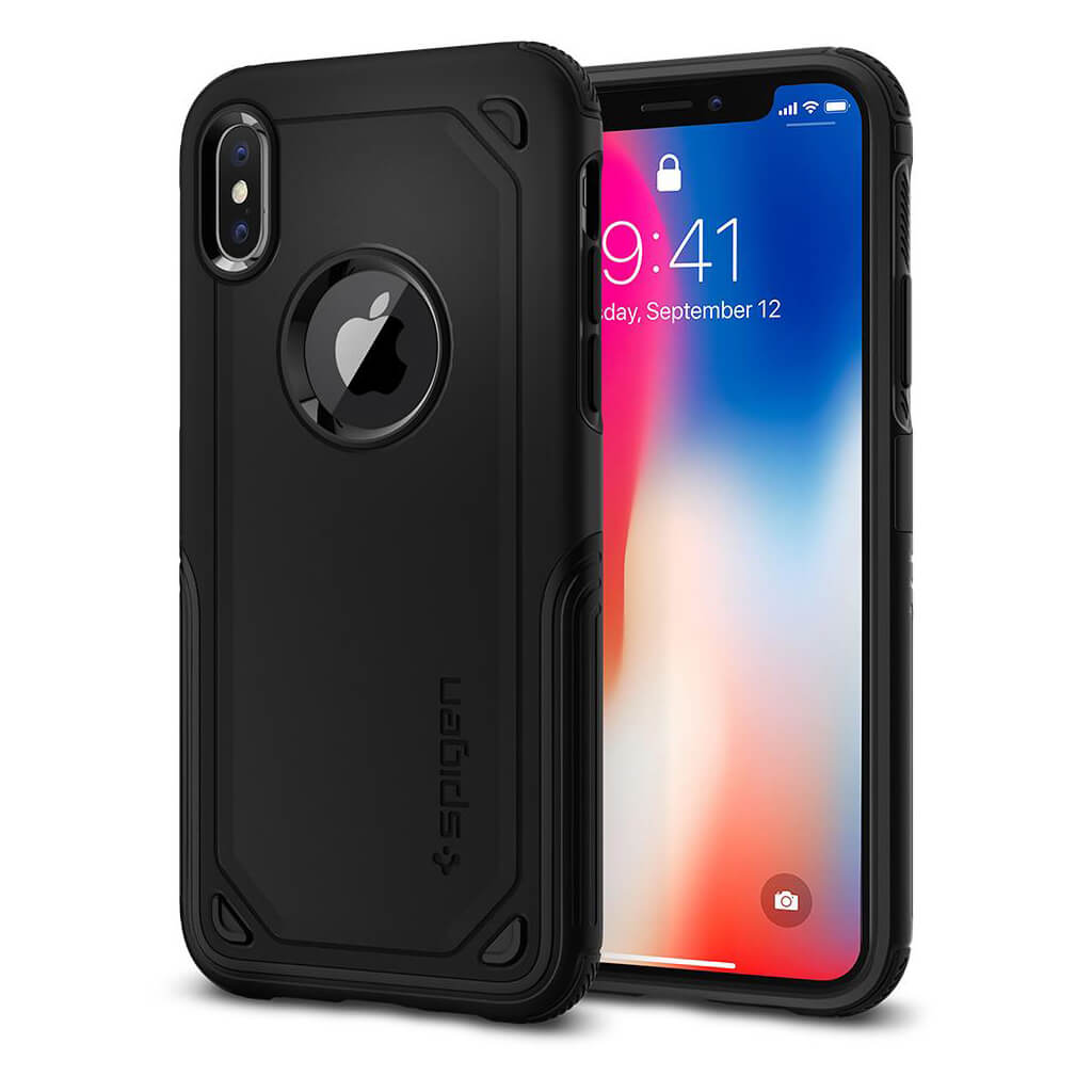 Spigen® Hybrid Armor™ 057CS22349 iPhone X Case - Black