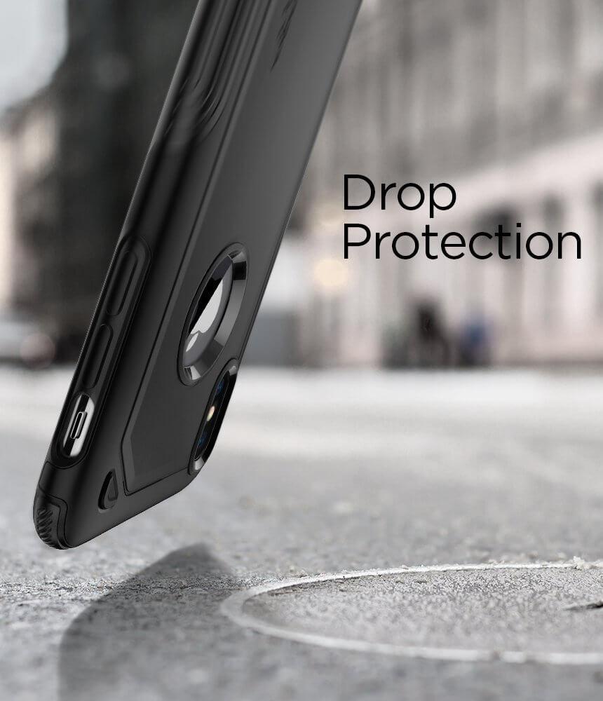 Spigen® Hybrid Armor™ 057CS22349 iPhone X Case - Black