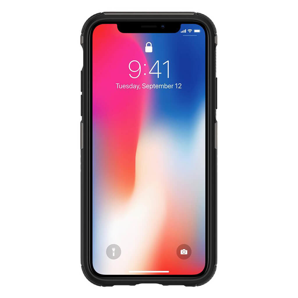 Spigen® Hybrid Armor™ 057CS22350 iPhone X Case - Gunmetal