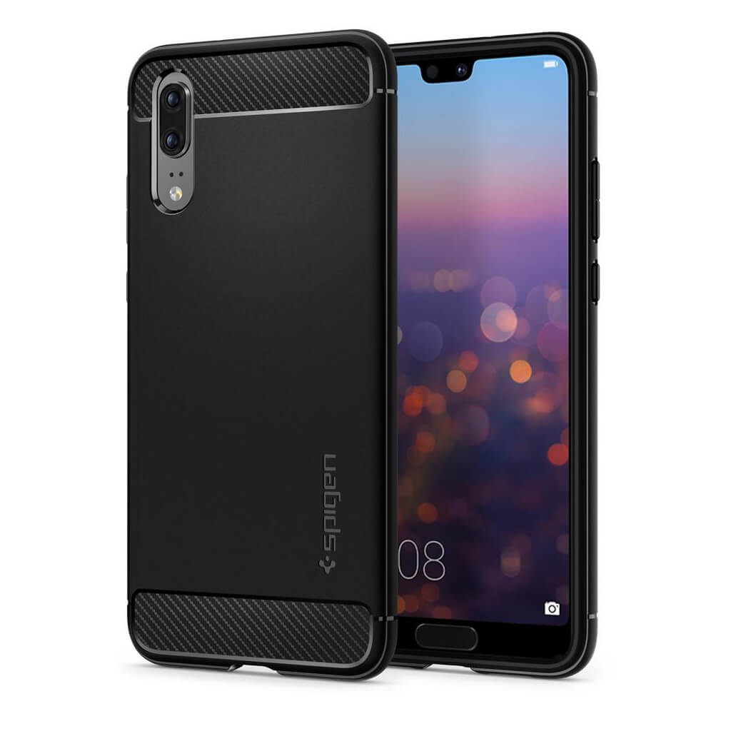 Spigen® Rugged Armor™ L21CS23080 Huawei P20 Case - Black