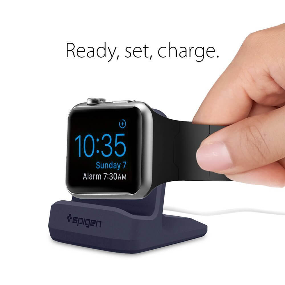 Spigen® S350 000CD21182 Apple Watch Series 3/2/1 (42mm/38mm) Stand - Midnight Blue