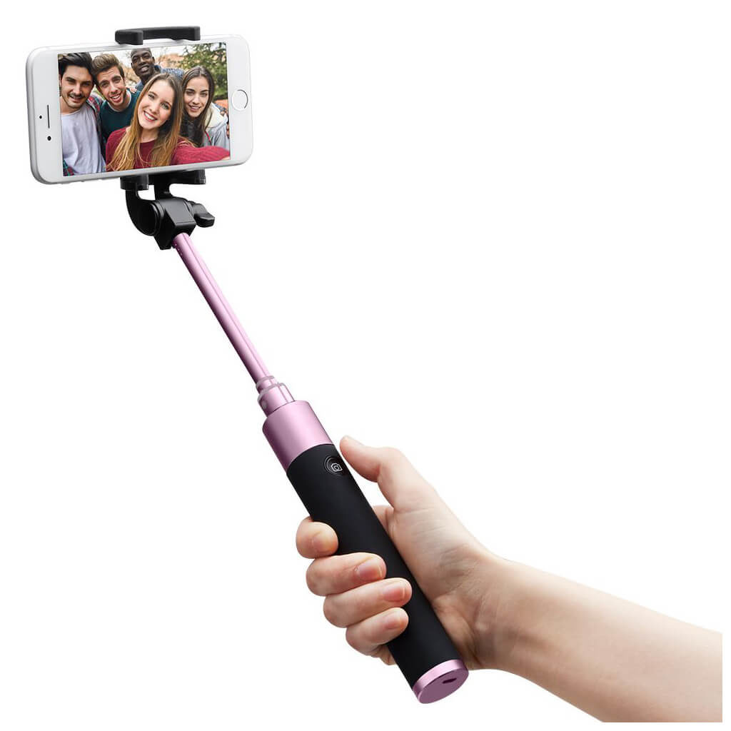 Spigen® S530W 000SS21747 Bluetooth Selfie Stick - Rose Gold
