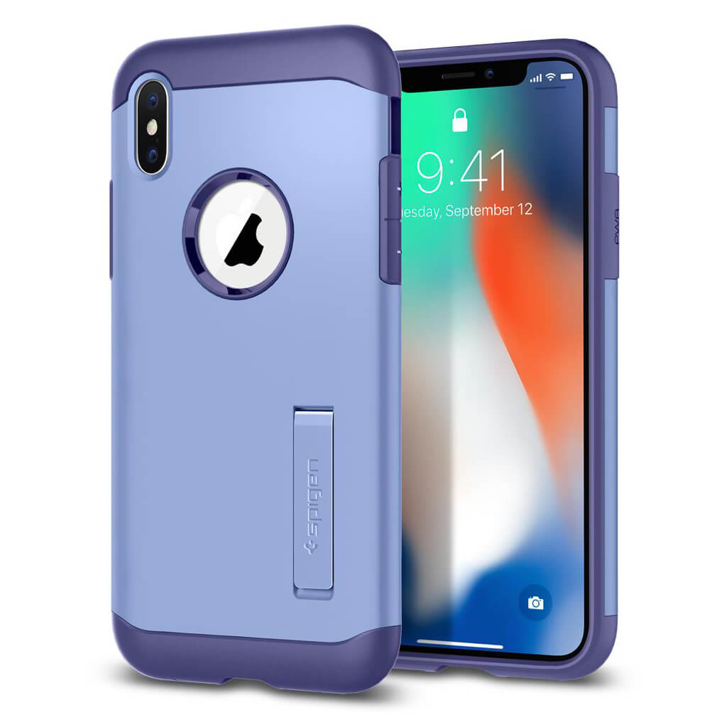 Spigen® Slim Armor™ 057CS22137 iPhone X Case - Violet