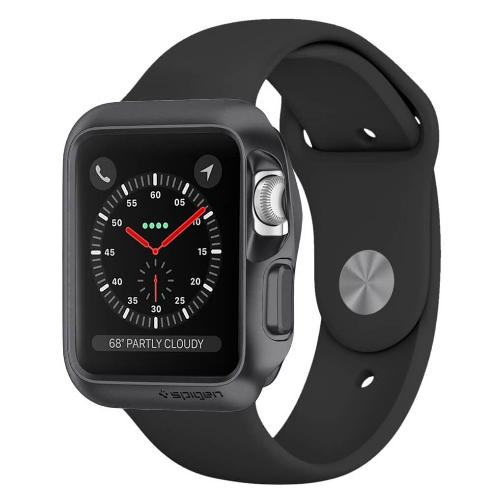 Spigen® Slim Armor™ 058CS22562 Apple Watch Series 3/2/1 (38mm) Case - Space Gray