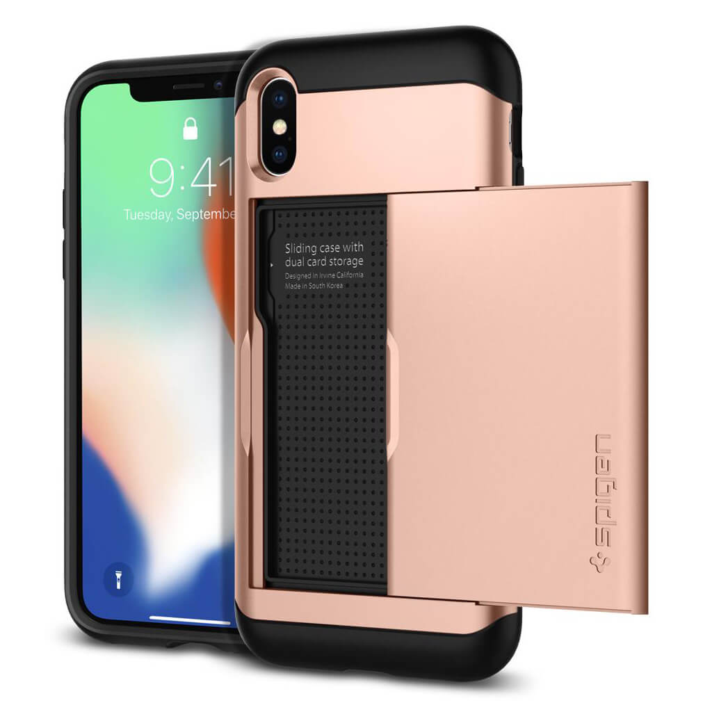 Spigen® Slim Armor CS™ 057CS22157 iPhone X Case - Blush Gold