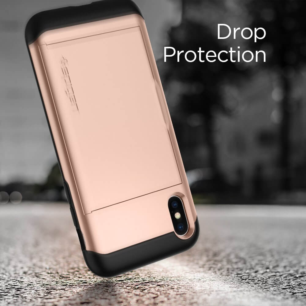 Spigen® Slim Armor CS™ 057CS22157 iPhone X Case - Blush Gold