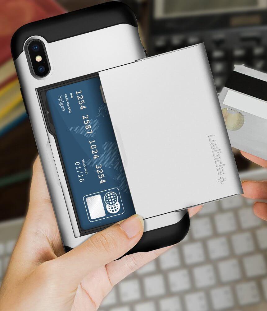 Spigen® Slim Armor CS™ 057CS22158 iPhone X Case - Satin Silver