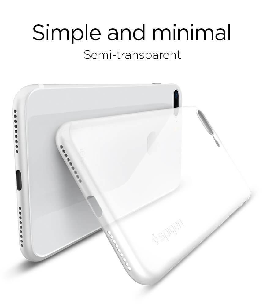 Spigen® AirSkin™ 055CS22593 iPhone 8 Plus Case - Soft Clear