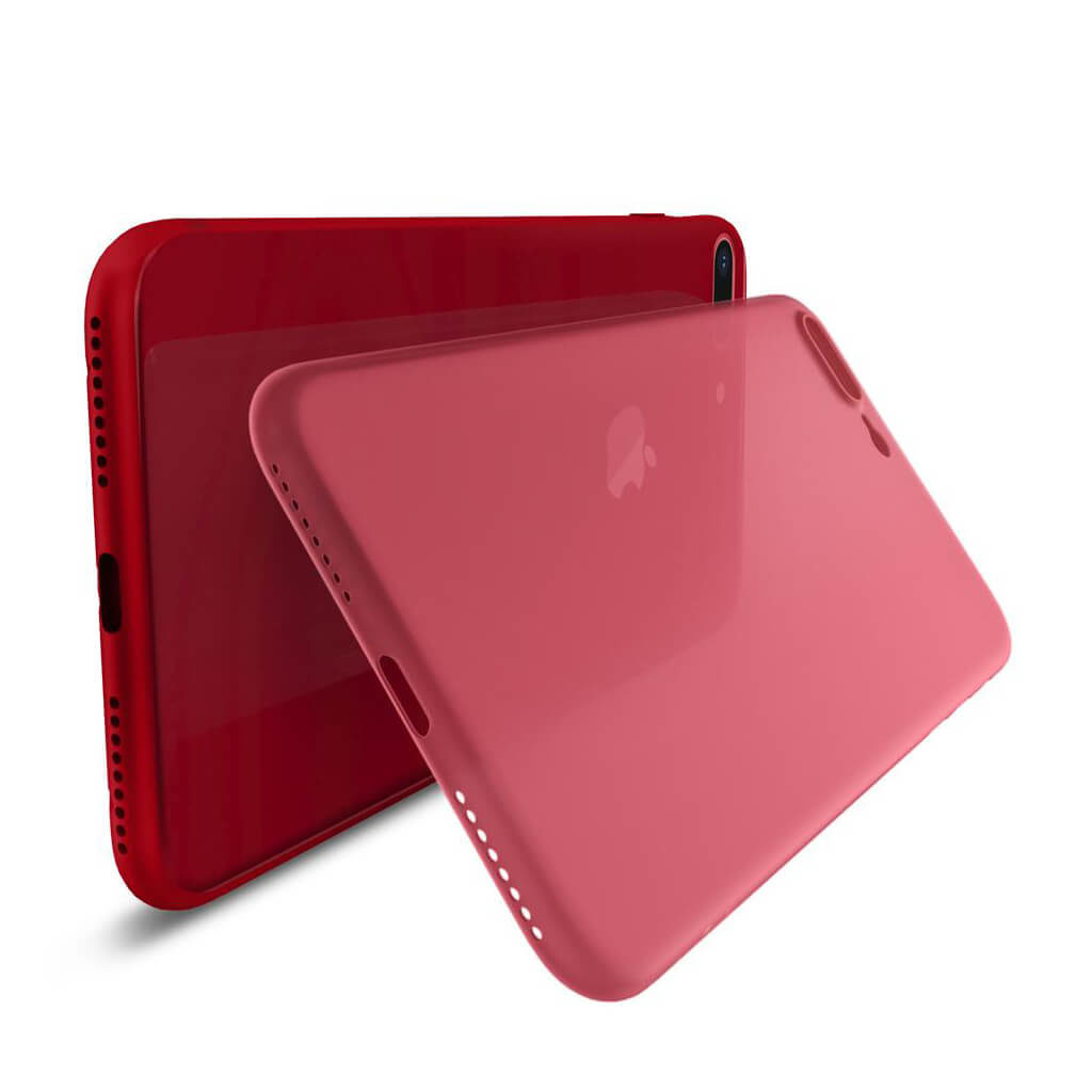 Spigen® AirSkin™ 055CS22595 iPhone 8 Plus Case - Red