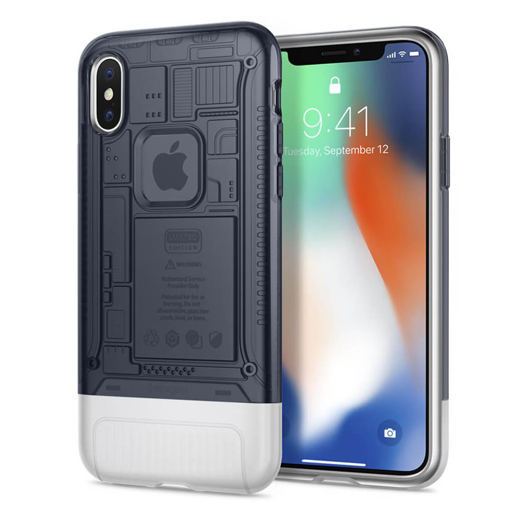 Spigen® Classic C1™ 057CS23197 iPhone X 10th Year Anniversary Limited Edition Case - Graphite