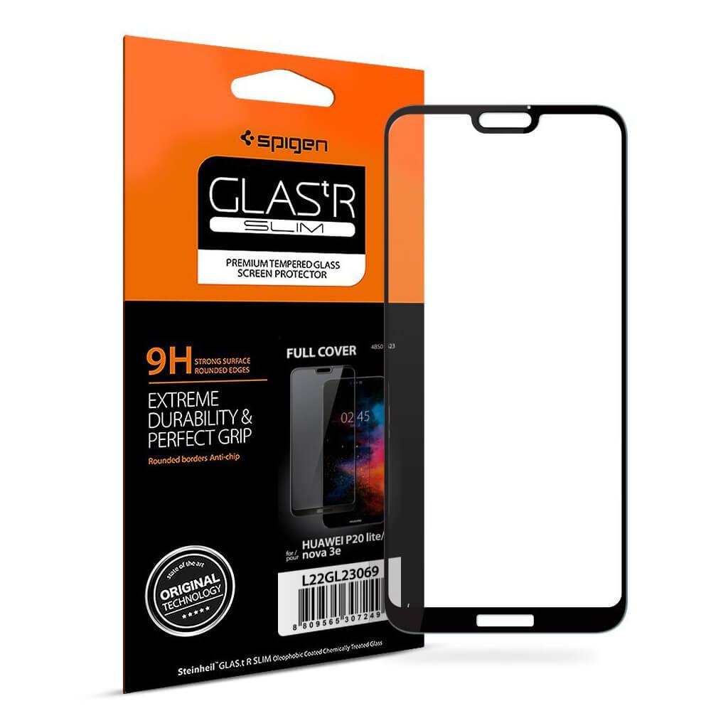 Spigen® GLAS.tR SLIM™ Huawei P20 Lite Full Cover Premium Tempered Glass Screen Protector